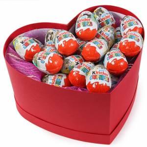 Сладкая коробка сердце с кондорами R227